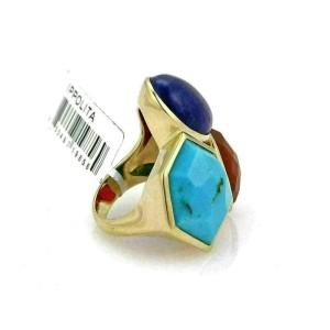 Ippolita Rock Candy Gelato Multicolor 3 Stone 18k Yellow Gold Large Ring