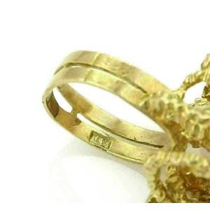Diamond & Green Tourmaline 18k Yellow Gold Fancy Textured Ring