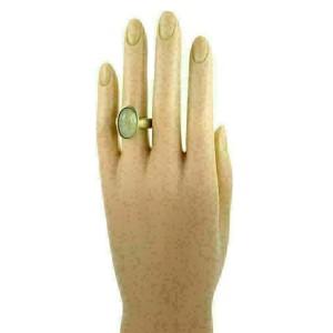 H.Stern Moonstone Diamond 18k Yellow Gold Oval Ring