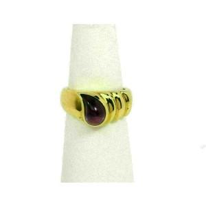 Chopard Tear Drop Amethyst 18k Yellow Gold Fancy Band Ring