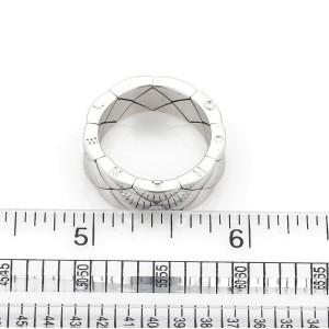 Chanel Matelasse 18k White Gold 7mm Flex Wide Band Ring