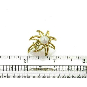 Tiffany & Co. Fireworks Pearls 18k Yellow Gold Post Clip Earrings