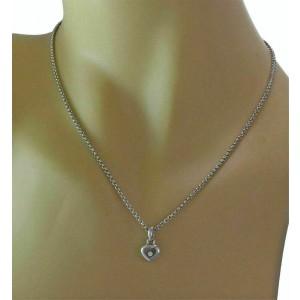 Chopard Happy Diamond Heart Pendant 18k White Gold Necklace