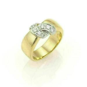 Pomellato Diamonds 18k Two Tone Gold Ribbon Wrap Band Ring
