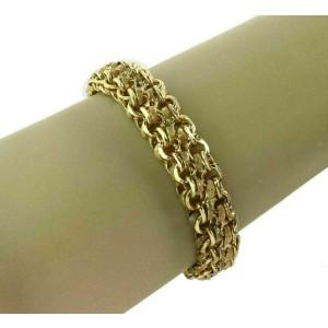 Multi Ring Links 13mm Wide 14k Yellow Gold Charm Bracelet