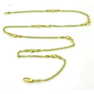 """A. Maffucci 18k Yellow Gold Curb Chain Link 32"""" Long Necklace"""