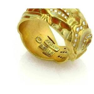 Masriera Diamond & Enamel Scaled Fish 18k Yellow Gold Band Ring