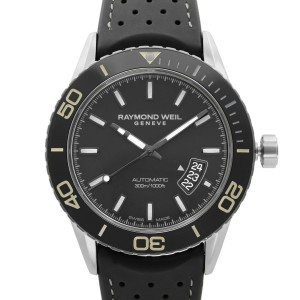 Raymond Weil Freelancer Steel Ceramic Black Dial Mens Watch 2760-TR1-20001