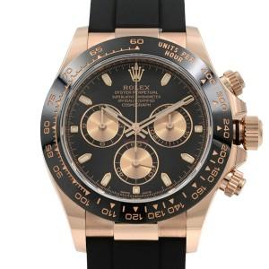 Rolex Daytona Oysterflex Everose Gold Black Dial Automatic Mens Watch 116515LN