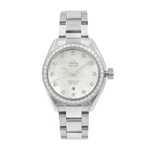 Omega Seamaster Aqua Terra Steel Diamond MOP Ladies Watch 231.15.34.20.55.002