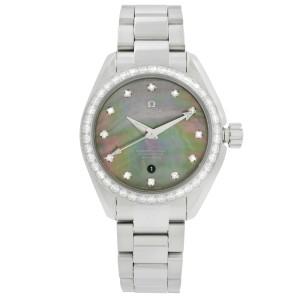 Omega Seamaster Aqua Terra Steel Diamond MOP Ladies Watch 231.15.34.20.57.001