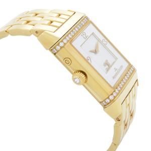 Jaeger-LeCoultre Reverso Duetto 18K Gold Diamond Handwind Ladies Watch 269.1.54