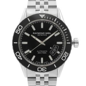 Raymond Weil Freelancer Steel Black Dial Automatic Mens Watch 2760-ST1-20001