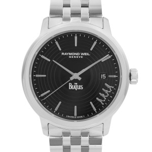 Raymond Weil Maestro Beatles Limited Edition Black Dial Mens Watch 2237-ST-BEAT2