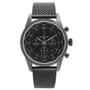 Breitling Transocean Unitime Pilot PVD Steel Black Dial Watch MB0510U6-BC80SS