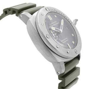 Panerai Luminor Submersible Titanium Black Dial Automatic Mens Watch PAM00305