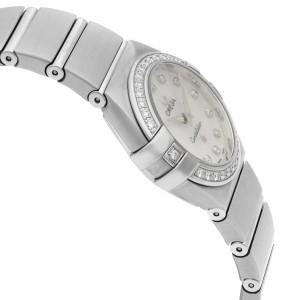 Omega Constellation Steel White MOP Dial Quartz Ladies Watch 123.15.24.60.55.002