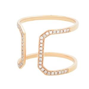 Rachel Koen 18K Rose Gold Diamond Ring Size 7.5 0.25cttw