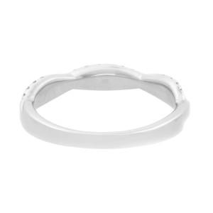 Rachel Koen 18K White Gold Twist Diamond Wedding Band Ring 0.40cttw Size 7
