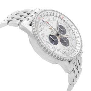 Breitling Navitimer 50th Anniversary 42mm Steel Silver Dial Mens Watch A41322