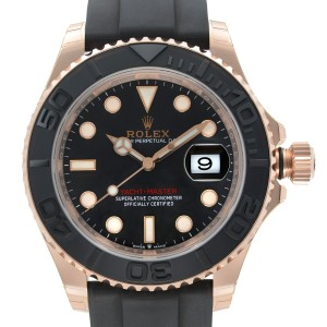 Rolex Yacht-Master 18k Everose Gold Black Dial Automatic Mens Watch 126655BKSRS