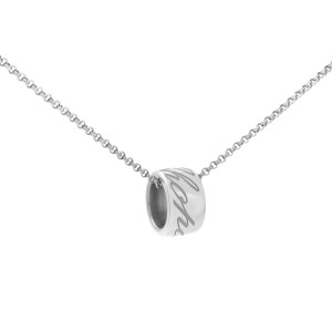 Chopard 18K White Gold Chopardissimo Pendant Necklace