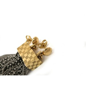 Louis Vuitton Silver & Gold Metal Plated Earrings