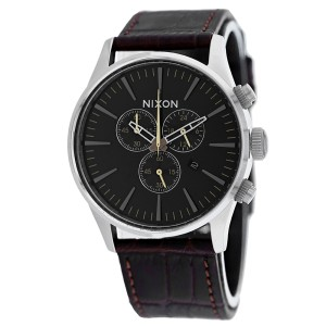 Nixon Men's Sentry Chrono Leather