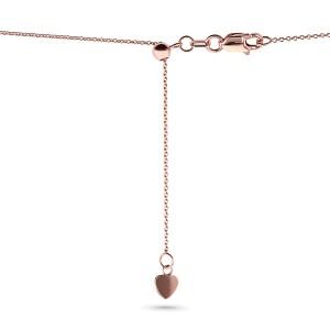 14k Gold Adjustable 18-Inch Chain - rose-gold