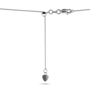14k Gold Adjustable 18-Inch Chain - white-gold