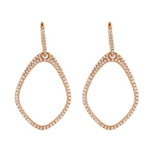 18k Rose Gold Diamonds Earrings