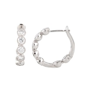 18k White Gold Diamonds Earrings