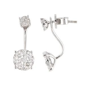 18k White Gold Diamonds Earrings