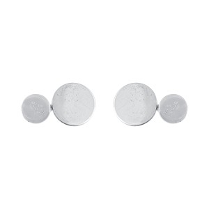 Gucci 925 Sterling Silver Circle Cufflinks