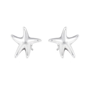 Tiffany & Co. Sterling Silver Starfish Stud Earrings