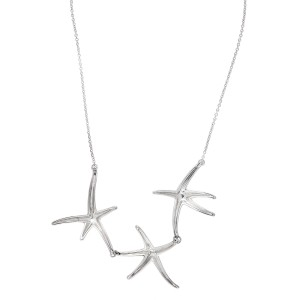 Tiffany & Co. Sterling Silver Starfish Necklace