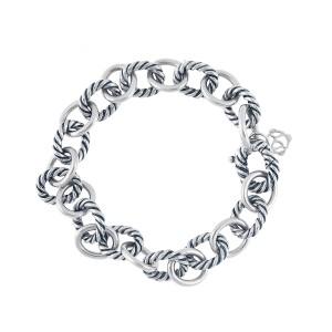 David Yurman Sterling Silver Medium Oval Link Bracelet