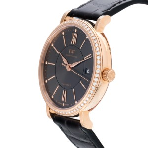 IWC Portofino IW458108 18K Rose Gold & Anthracite Dial Automatic 37mm Mens Watch