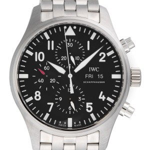 IWC Pilot IW377710 Stainless Steel & Black Dial Automatic 43mm Mens Watch