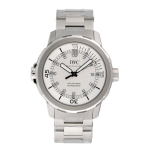 IWC Aquatimer IW329004 Stainless Steel & Silver Dial Automatic 42mm Mens Watch