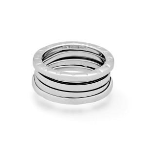 "Bvlgari 18K White Gold 3 Band ""B.Zero 1"" Band Ring Size: 6"