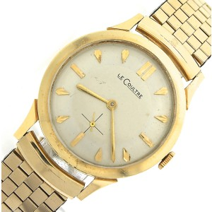 Vintage Men's LeCoultre 14K Yellow Gold 32mm Watch