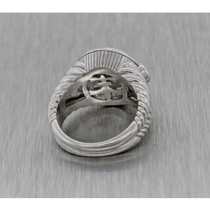 Judith Ripka Peridot Citrine Sterling Silver Cocktail Ring