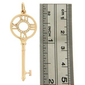 Tiffany & Co. Atlas 18K Rose Gold with Diamonds Key Charm Pendant