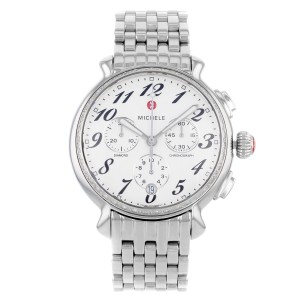 Michele Fluette MWW24A000001 Diamond Chronograph Stainless Steel Watch