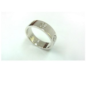 Cartier 750 White Gold Love Ring Size 7.5