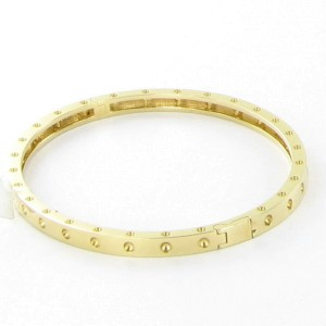 Roberto Coin Pois Moi Symphony Dotted 18K Yellow Gold Oval Bangle Bracelet