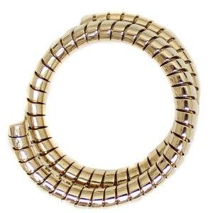 Bulgari Tubogas 18K Yellow Gold Ring Size 12