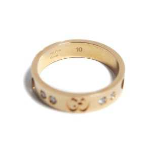 Gucci Icon Amor 18K Rose Gold with 10P Diamond Ring Size 5.25