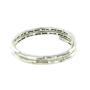 John Hardy Bamboo Double Coil Sterling Silver Bracelet